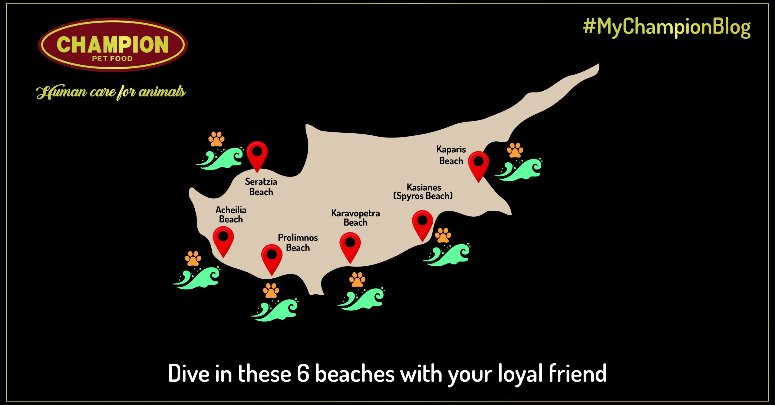 cyprus mab with 6 spots of dog beaches